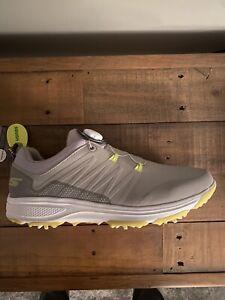 Sketchers Torque-twist Golf Shoes - Gray/lime - 9.5uk