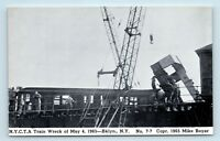 Brooklyn, NEW YORK - 1965 TRAIN WRECK DISASTER POSTCARD - CRANE & WORKERS - S2