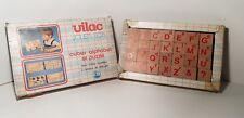 Ancien Jeu jouet en bois vilac cubes alphabet et puzzle complet toys J5/13
