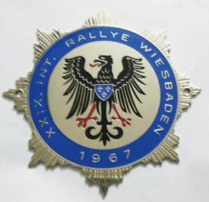 Adac International Rally 1967 car grill badge emblem logos metal enamled badge