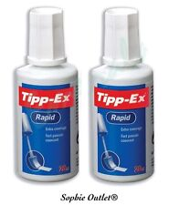 2 x Tipp-Ex Rapid Correction Fluid Bottles Tippex 2 x 20ml UK