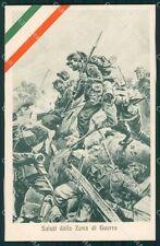 Militari WWI Propaganda Esercito Zona di Guerra cartolina XF0339