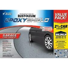 2-Part High-Gloss Epoxy Car Garage Floor Paint Coating Kit gal Gray Color New
