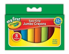 CRAYOLA MY FIRST JUMBO WAX CRAYONS CHILDREN EASY GRIP CHUNKY BRIGHT COLOURS