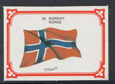 Monty Gum 1980 Flags Cards - Card No 93 - Norway (T625)
