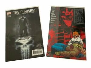Marvel The Punisher Official Movie Adaptation no 47 & Daredevil Man without Fear