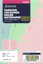 Filofax Pocket Size Fashion Coloured Ruled Notepaper Refill Insert 210507