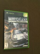 Original Microsoft XBox Video Game Wreckless Rated T NICE!