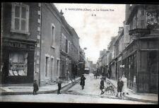 SANCOINS (18) SALON de COIFFURE, COMMERCES BONNETERIE & PATISSERIE animée en1909