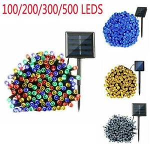 100~500 LEDs Solar Power Fairy Lights String Party Wedding Decor Outdoor New