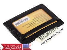MEN's GENUINE LEATHER THIN SLIM Wallet Holder Money Credit Card ID Window