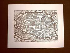 Antica veduta della Città di Ferrara Incisione del '600 Ristampa