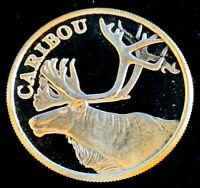 1 oz .999 Fine Silver • Carabou Art Round