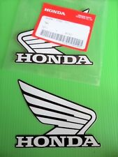 Honda Fuel Tank Wing Decal Wings Sticker x 2 WHITE / BLACK *** GENUINE HONDA ***