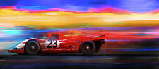 Automotive Motorsport Car Art 1970 Porsche 917 Le Mans win  LARGE CANVAS PRINT