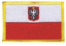 Polen mit Adler Aufnäher Flaggen Fahnen Patch Aufbügler 8x6cm