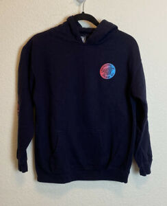 Santa Cruz Youth Hoodie XL Navy Blue w/ Pink and Blue Writing EUC!