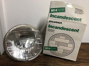 6014 Sylvania Headlight Bulb Headlamp INCANDESCENT Glass NOS Hi/Low 12V 3-prong