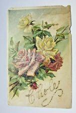 Vintage Floral Post Card, Germany