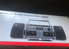 Rare Vintage New In Box   GE 3-5687  AM/FM Radio Dual Cassette Player Boombox