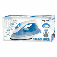 1600W Non-Stick Soleplate Lightweight Clothes Steam Iron Corded - Blue