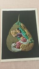 Hand Painted Pipal Tree Leaf Made in India