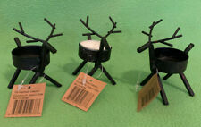 Reindeer Tealight Holder with Starter Candle from The Heritage Collection