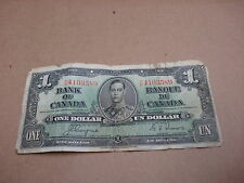 1937 - Canadian $1 bill - one dollar note - NN4103589