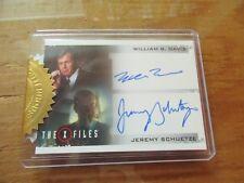 X-Files Seasons 10 & 11   William B. Davis & Jeremy Schuetze Dual Autograph Card