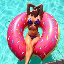 120cm Inflatable Donut Swim Ring Tube Pool Float Lounger Beach Swimming Lilo RLT