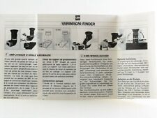 Manual de instrucciones Olympus om sistema varimagni Finder instructions