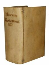 1546 Bible, Latin Testamenti Novi, Editio Vulgata... Vellum Binding-Prtd Venice