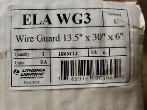 LITHONIA LIGHTING Steel Wire Guard,13-1/2 x 30 x 6 In., ELA WG3 1Z-1686-B7