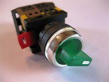 Drehschalter grün Wendeschalter 230 Volt Maschinenschalter Geräteschalter li re