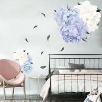 Wandtattoo Wandaufkleber Pfingstrose  Blumenranke Wohnzimmer Wandtatoos