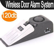 Wireless Door Stop Alarm Vibration Super Loud Home Security System Trigger 120DB