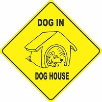 "15.5/"" x 15.5/"" plastic funny dog sign xing Crossings #1 animal Novelty"