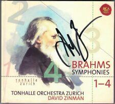 David ZINMAN Signiert BRAHMS Symphony No.1 2 3 4 Tonhalle Orchestea Zurich 3CD