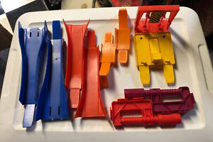Lot of Various Vintage Hot Wheels Track Accessories Loop Clamps Start Finish etc