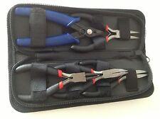 5 un. Kit de Herramientas de Alicates Conjunto con CADENA redonda Bent Nariz Cortador de caso fabricación de joyas