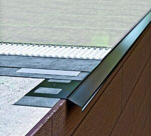 Terrasse Begrenzung 2 Meter Balkonprofil AluAbtropf Randprofil K100 Zubehör GRAU