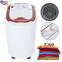 110V Portable Compact Washing Machine Full-Automatic Laundry Washer 360 Spinner