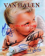 Eddie Van Halen David Lee Roth Alex  Michael autographed 8x10 photograph Reprint