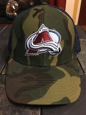 Brand New Colorado Avalanche Camouflage Camo Hat Cap Trucker NHL SnapBack Reebok