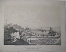 1838 RAMSGATE PIER & HARBOUR CHARLES JOSEPH HULMANDEL LITHOGRAPH T R KING ARTIST