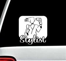 Hair Stylist Decal Sticker for Car Window Hairdresser Salon Spa 5.50 Inch BG 344