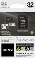 Genuine Sony 32GB High Speed Class 10 UHS-1 Micro SDHC up to 95MB/s Memory Card