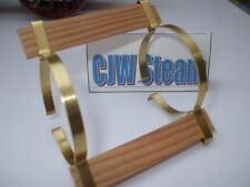 CJW Steam BRASS BOILER BANDS & TWIN SPRUCE RUNNING BOARDS Live steam Te1a SR1a