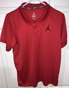 Nike Boy's Air Jordan Jumpman Golf Polo Shirt - Red - Size XL