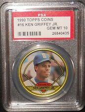 PSA 10 GEM MT 10 - #16 Ken Griffey Jr 1990 Topps Coins Seattle Mariners